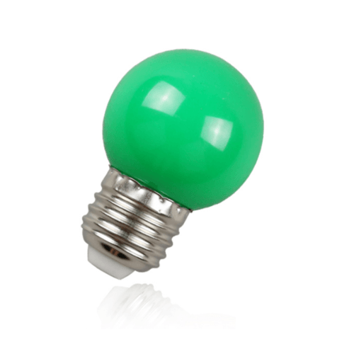 EILON หลอดปิงปองสีเขียว 1.5 W  BL-G45-Y001 สีเขียว