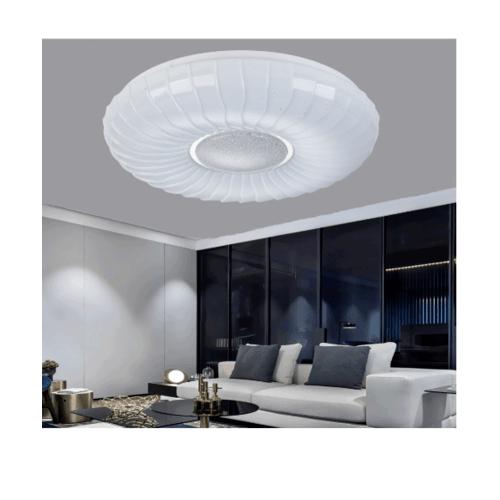 EILON โคมไฟเพดานอะคริลิค  GJXD350S5-2*24W คูลไวท์  สีขาว