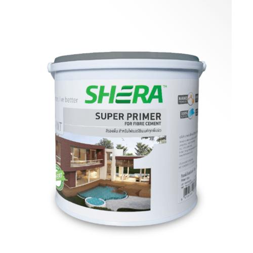 SHERA เฌอร่า สีรองพื้น ไฟเบอร์ซีเมนต์    1  GL สีเทา  -