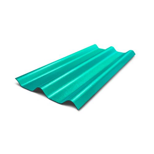 ห้าห่วง กระเบื้องลอนคู่  สีเขียวมาลาไคท์  ขนาด 0.5x50x120ซม