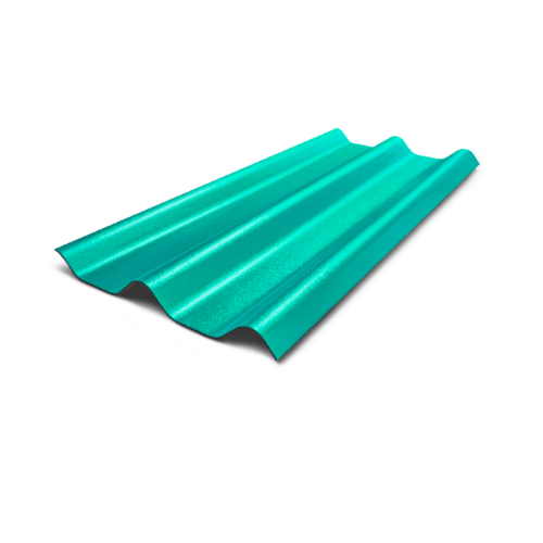 ห้าห่วง กระเบื้องลอนคู่ สีเขียวมาลาไคท์  ขนาด 0.5x50x150ซม