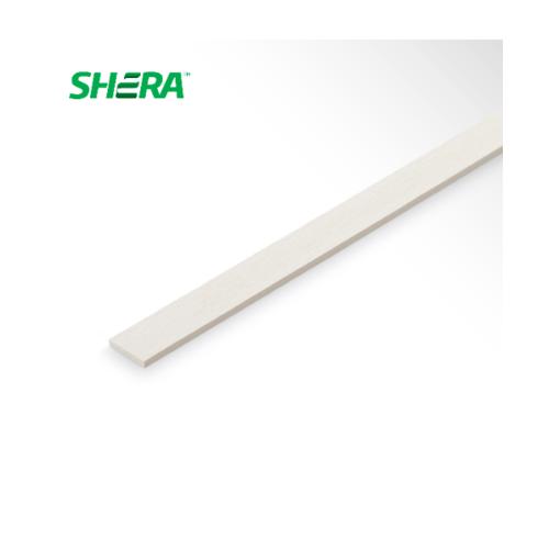 SHERA ไม้ระแนงเฌอร่า ลายเสี้ยนตรง ขอบตรง 0.8x5x300 ซม.สีธรรมชาติ  -