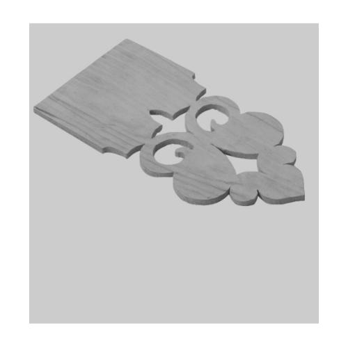 SHERA เชิงชายน้ำหยดเฌอร่า ดอกจิก สัก0.8x15x50ธรรมชาติ -