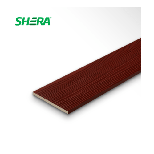 SHERA ไม้ฝา0.8x15x400แดงมะฮอกกานี ลายสัก