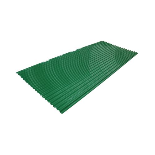 ตอง111 สังกะสี  8 ฟุต  ลอนเล็ก  3 ดาว  สีเขียว