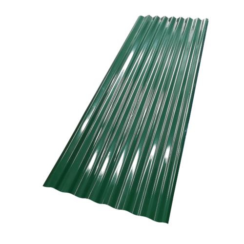 ตอง111 สังกะสี 9 ฟุต  ลอนใหญ่สี สีเขียว