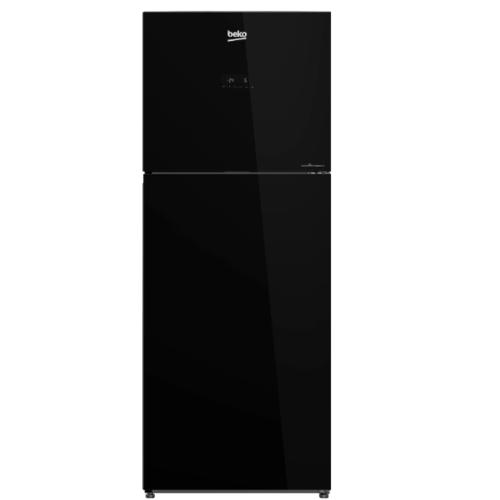 BEKO  ตู้เย็น 2 ประตู 13.3 คิว  กระจกดำ RDNT401E50VZGB สีดำ