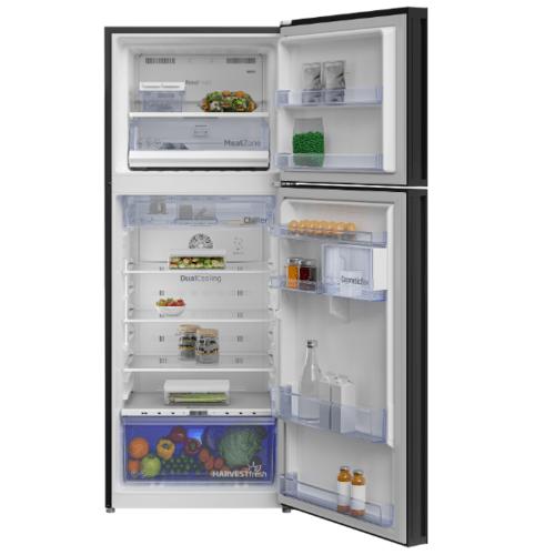 BEKO  ตู้เย็น 2 ประตู 13.3 คิว  กระจกดำ RDNT401E50VZGB