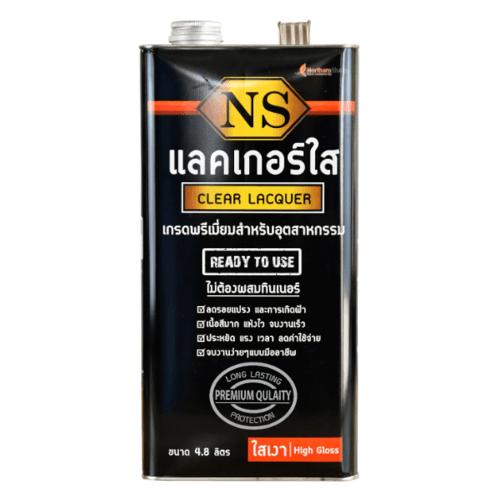 NORTHERNSHELLAC NS แลคเกอร์ใส สูตรเงา 4.80 ลิตร สีทับหน้า สีดำ