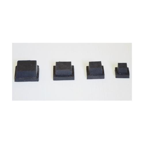 S.S.P. ยางขาโต๊ะเหลี่ยมตัน สวมใน (4ชิ้น/แแพ็ค) 7/8 นิ้ว สีดำ