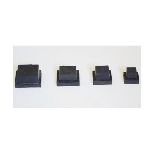 S.S.P. ยางขาโต๊ะเหลี่ยมตัน สวมใน (4ชิ้น/แแพ็ค) 1.1/4 นิ้ว สีดำ