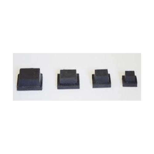 S.S.P. ยางขาโต๊ะเหลี่ยมไม้ขีดตัน สวมใน (2 ชิ้น/แพ็ค) 1-1/2 นิ้ว x 3 นิ้ว สีดำ
