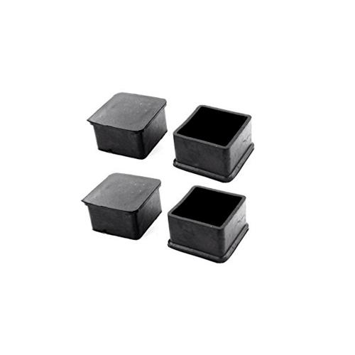 SSP ยางขาโต๊ะเหลี่ยม สวมนอก 3 นิ้ว X 3 นิ้ว สีดำ