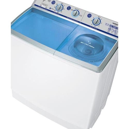 HITACHI เครื่องซักผ้า2ถัง14kg. PS 140 WJ SBL สีฟ้า