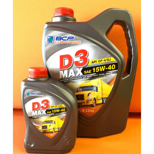 bangchak  น้ำมันหล่อลื่นเครื่องยนต์ดีเซล API CF-4/SJ เกรดรวม  D3 MAX CF4/SJ 15W40 4/6+1L สีแดง