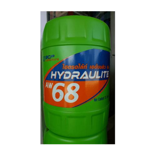 bangchak น้ำมันไฮดรอลิคชนิดผสมสารต้านทานการสึกหรอ บางจาก ไฮดรอไลท์ เอดับบลิว 68 18L สีเขียว