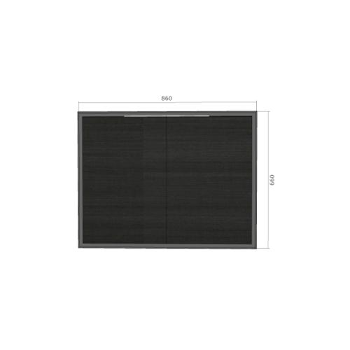LAVAREDO บานซิงค์คู่ สั่งพิเศษ H660xW860xD95mm. สี LW106-Foresta Teak