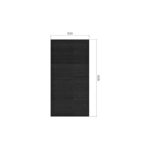 LAVAREDO ตู้แขวนช่องเสริม สั่งพิเศษ  H600 x W300 xD300mm.  สี LW106-Foresta Teak