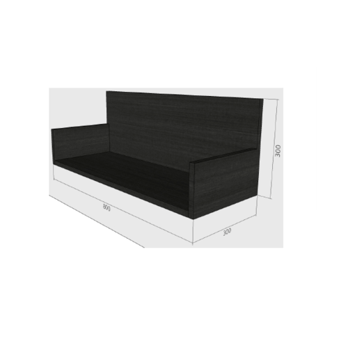 LAVAREDO ตู้แขวนช่องเสริม สั่งพิเศษ  H300 x W800 xD300mm.  สี LW106-Foresta Teak