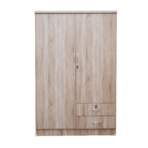 SF ตู้เสื้อผ้า 4 ฟุต ประตู 2 บาน สีพรีเมียร์โอ๊ค W-06-NEW