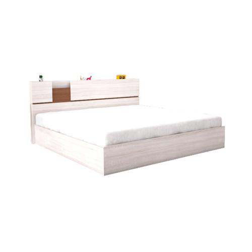 SF เตียงนอน 6 ฟุต สีพรีเมียร์โอ๊ค/ดาร์คโอ๊ค BR-06SF