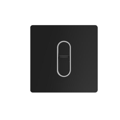 R&T ฟลัชวาล์วอัตโนมัติโถปัสสวะชายชนิดฝังผนังพร้อมปุ่มกด LED D320031 สีดำ