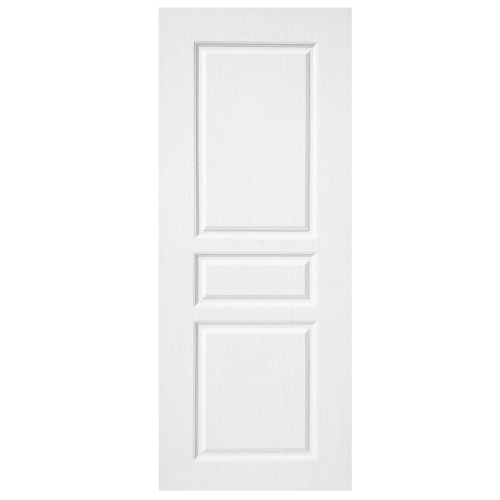 BWOOD ประตูยูพีวีซี บานทึบลูกฟักผิว REVO ขนาด  80x200ซม.  (ไม่เจาะ)  Eco series BENR002 สีขาว