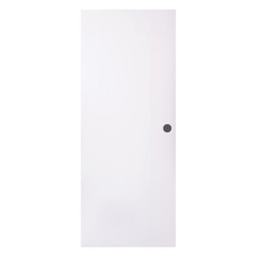 BWOOD  ประตู VINYL  ขนาด 80x200 บานทึบ ผิวเรียบ เจาะ Eco series สีขาว