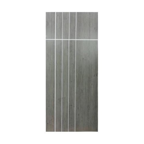 Masterwood  ประตูยูพีวีซี บานทึบเซาะร่อง Laminate VINYL ขนาด 80x200ซม. GRAY OAK (เจาะ) LBNMR008 ผิว REVO
