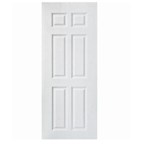 BWOOD  ประตูยูพีวีซี Eco series ขนาด 90x200ซม.(เจาะ)  BENR006 ผิว REVO สีขาว