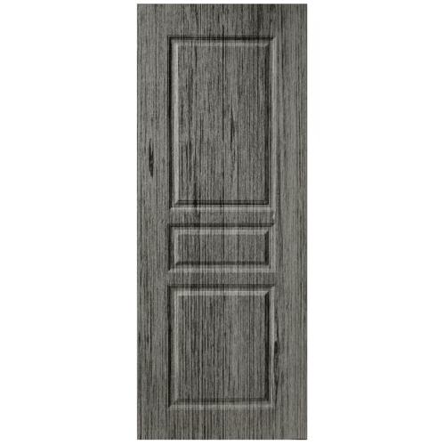 BWOOD ประตูยูพีวีซี Eco series ขนาด 80x200ซม. GREY OAK (เจาะ) LBENR002 ผิว REVO  สีเทา