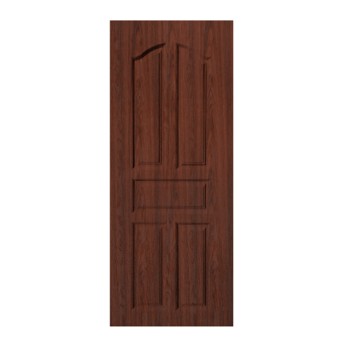 BWOOD  ประตูยูพีวีซี  Eco series ขนาด90x200ซม. BROWN WENGE (เจาะ) LBENR001 (REVO)
