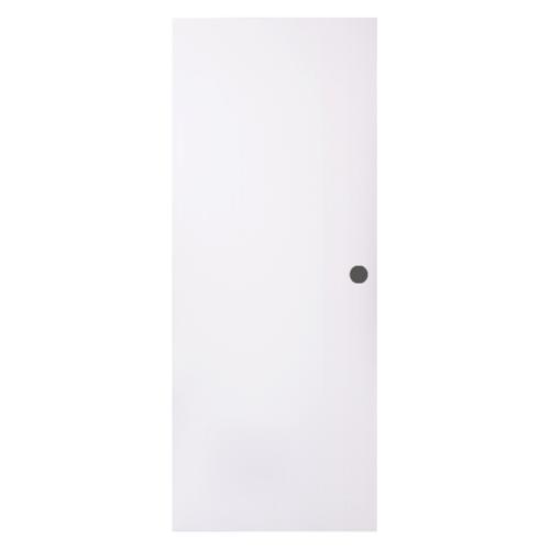 BWOOD ประตู  VINYL ขนาด 70x180  บานทึบ  ผิว REVO เจาะ  Eco series สีขาว