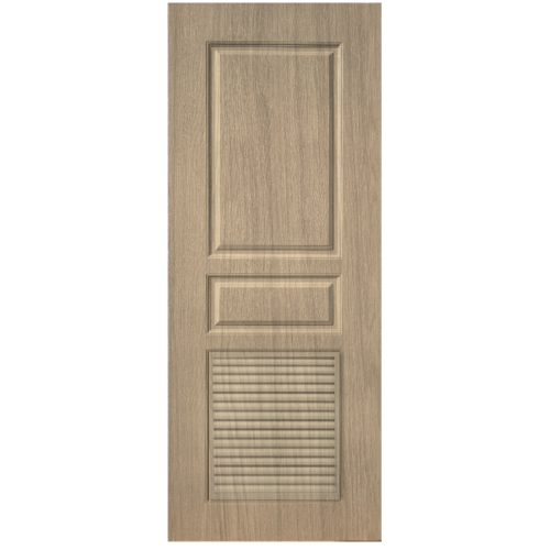 BWOOD  ประตู VINYL Eco series ขนาด70x200ซม. TAN MAPLE (เจาะ)  LBELR002 (REVO)
