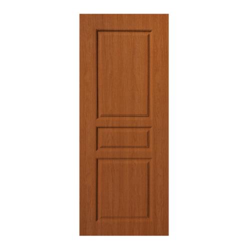 BWOOD  ประตู VINYL  Eco series ขนาด70x200ซม. ORANGE TEAK  (เจาะ)  LBENR002 REVO