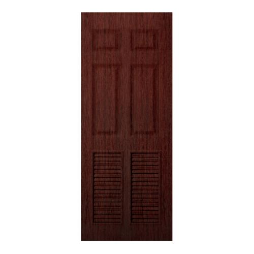 BWOOD ประตู VINYL Bwood Eco series ขนาด 70x200ซม. RED CHERRY (เจาะ) LBELR006 REVO สีแดง