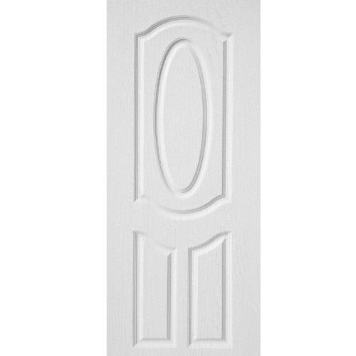 BWOOD  ประตูยูพีวีซี บานทึบ 3ฟักโค้ง Bwood Eco series ขนาด 80x200ซม. (ไม่เจาะ) BENR004 REVO  สีขาว