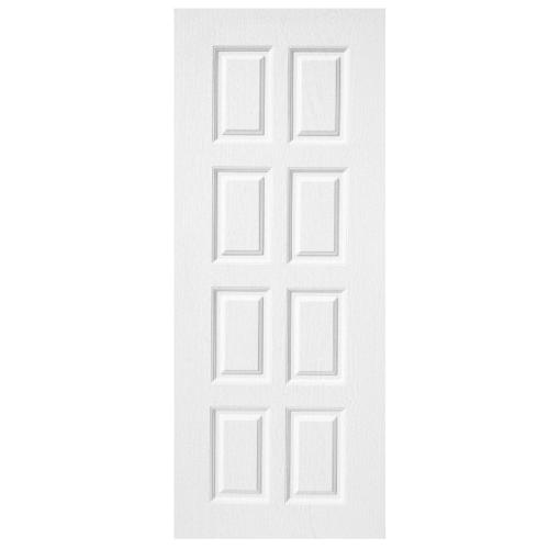 BWOOD ประตู VINYL บานทึบ 8ฟัก Bwood Eco series ขนาด  80x200ซม. (ไม่เจาะ)  BENR003 REVO  สีขาว