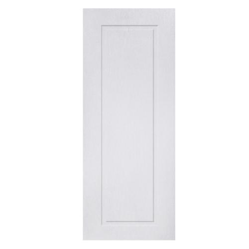 BWOOD ประตู VINYL บานทึบฟักเต็มบาน Bwood Eco series ขนาด 80x200ซม.  (ไม่เจาะ) BENR007  REVO  สีขาว