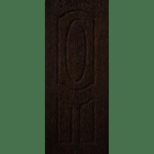 BWOOD ประตูยูพีวีซี ECO-Series LBENR004 REVO 90x200ซม. BROWN WENGE (เจาะรูลูกบิด) น้ำตาลเข้ม