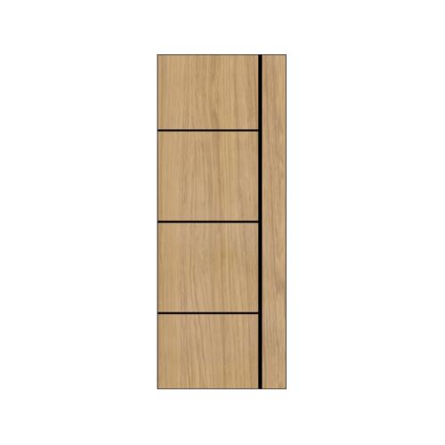 Masterwood ประตู VINYL เซาะร่องดำ ขนาด 70x200ซม.Tam maple เจาะ  LMNM03