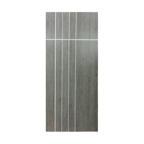 Masterwood ประตู VINYL เซาะร่อง ขนาด 70x200 Gray Oak เจาะ  LMNM08