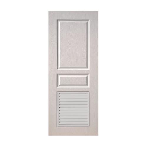BWOOD ประตู VINYL Eco series ขนาด 90x200 ซม.  เจาะ  BEL002  สีขาว