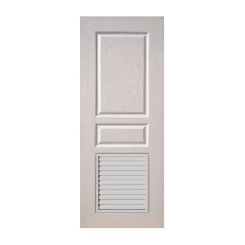 BWOOD ประตูยูพีวีซี ลูกฟักพร้อมช่องระบายอากาศ ขนาด 70x200cm.ไม่เจาะ   Eco series BEL-002 สีขาว
