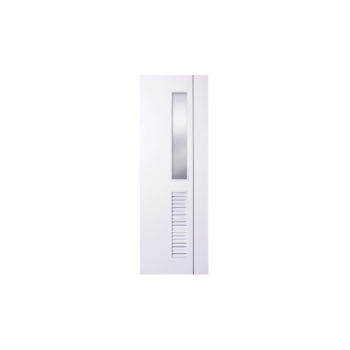 Polywood ประตู PVC ขนาด  80x200   ไม่เจาะ  M-Series PM-5 สีขาว