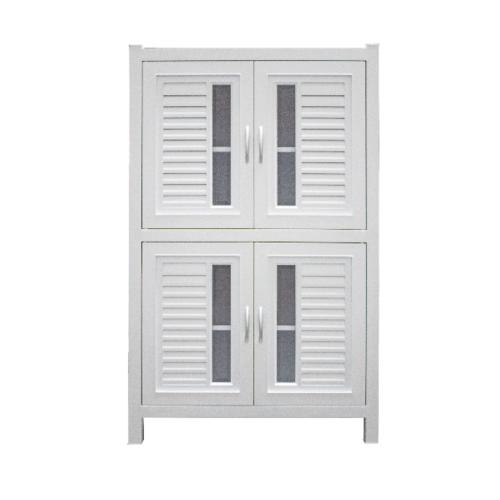Polywood ตู้กับข้าว ABS Model 2-A 2.0 ชั้น (2 ตู้คู่)  M-Series สีขาว