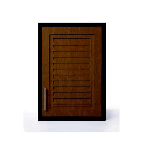 Polywood ตู้แขวนเดี่ยว ขนาด 46x66x34 cm.  M-SERIES Nature M-13 สีน้ำตาลเข้ม