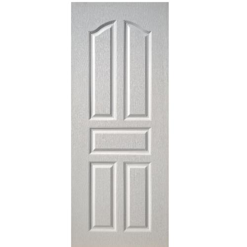 BWOOD ประตู Eco-Series1 5 ฟักปีกนก 80cm.x200cm. ขาวไม่เจาะ  BEN001 สีขาว