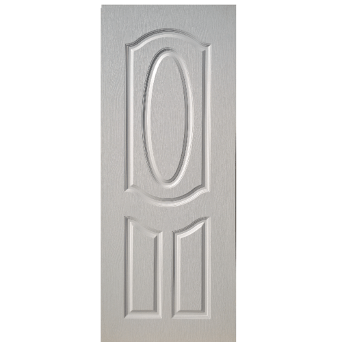 BWOOD ประตู VINYL Eco series  ขนาด 90x200 ซม. ไม่เจาะ BEN004 สีขาว