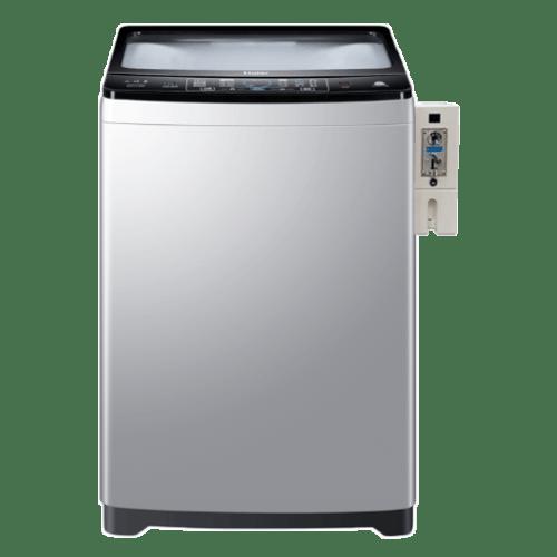 HAIER เครื่องซักผ้าหยอดเหรียญฝาบน ขนาด 14 Kg. HWM140-1826T CB สีซิลเวอร์ ซิลเวอร์